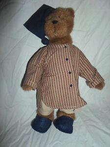"Boyds Bears Ebenezer S Jodi Bear Battaglia 10"" Plush Soft Toy Stuffed Animal"