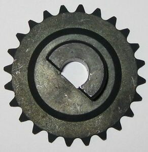 25-Chain-Sprocket-Gear-2-034-OD-10-mm-ID-for-D-Type-Flatted-Shaft-24-Teeth