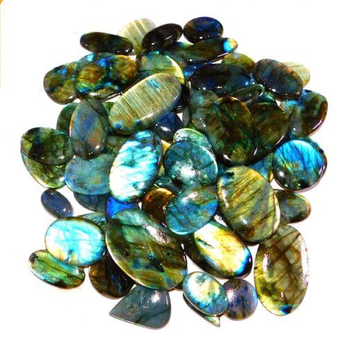 Pure Natural Multi Fire *Labradorite *Wholesale Mix Cabochon Loose Gemstone Bulk