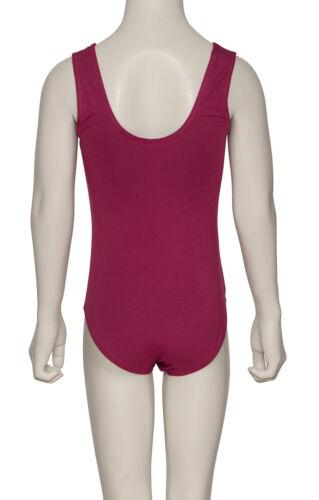Toutes les couleurs rad istD sans manches Ruche Coton ballet de danse Leotard kdc038 katz