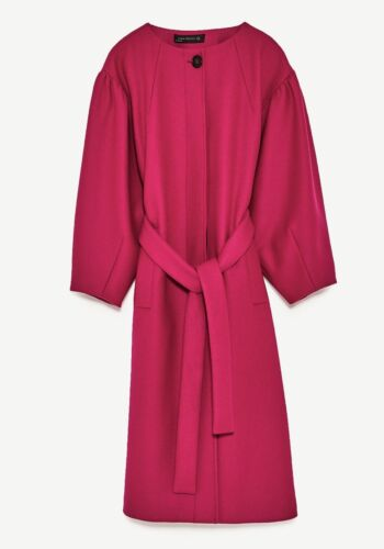 Zara M Full Women's Size Sleeves Fushia Coat Nwt UrUwqT