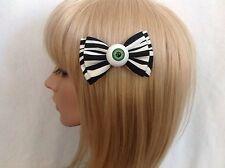 Eyeball hair bow clip rockabilly pin up girl psychobilly punk gothic zombie