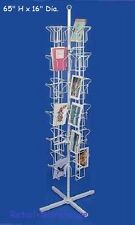 """Greeting Card Rack Rotating Spins 48 Pocket White Retail Display 5"""" x 7 Cards"""