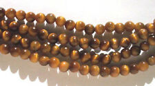 10 x 6mm tiger's eye quartz round beads - beads for jewellery and crafts