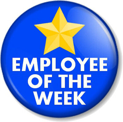 Employee of the week 25mm//1 inch Button Badge