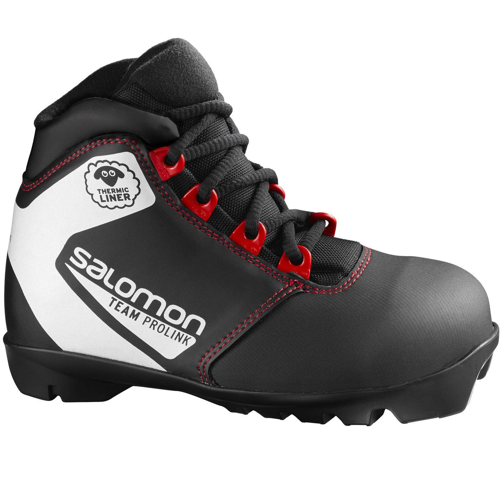 Salomon Team Prolink Jr Kinder-Langlaufschuhe NNN kompatibel Skischuhe Classic