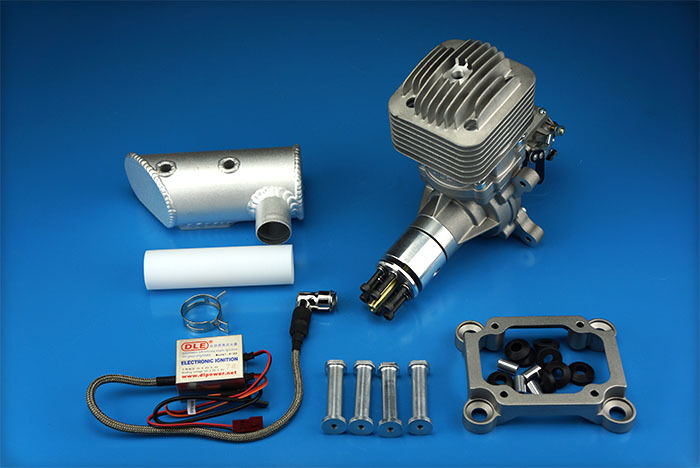DLE85 85cc Gasoline Engine +Electronic Igniton+Exhaust  For RC Airplane FM
