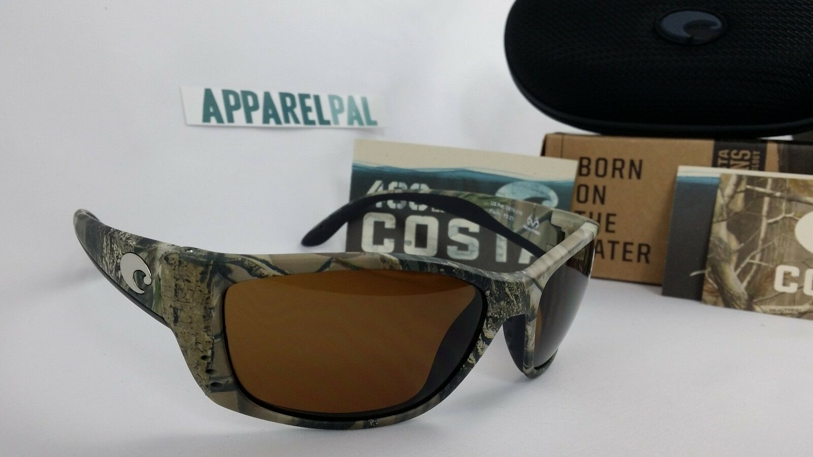 New Costa Del Mar Fisch Polarized Sunglasses 400P Realtree AP Camo Amber Hunting