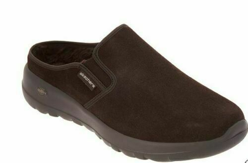 Skechers GOWalk On The Go Joy Snuggly Water Repellant Suede Clogs Chocolate US9