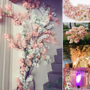 2018 faux silk fake artificial cherry blossom flower bridal wedding image is loading 2018 faux silk fake artificial cherry blossom flower mightylinksfo