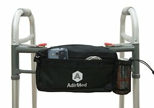 AdirMed-Black-Wheelchair-Walker-Pouch-Bag-Many-Pockets-990-01