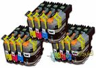 12 LC123 Ink Cartridges For Brother MFC-J4510DW MFC-J4610DW MFC-J470DW non-OEM