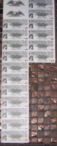 CITY OF FRANKFORT ON MAIN 1945-1953 Gold Bond Tickets LOT