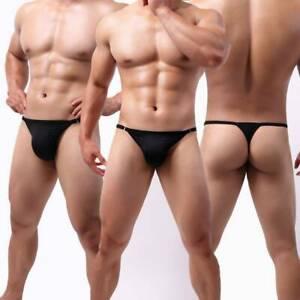 Men Ice Silk Underwear Briefs Seamless Breathable Thin Underpants Bikini Panties