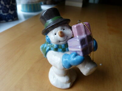 Lenox Starry Lit Snowman Ornament Plays 8 Songs NEW IN BOX
