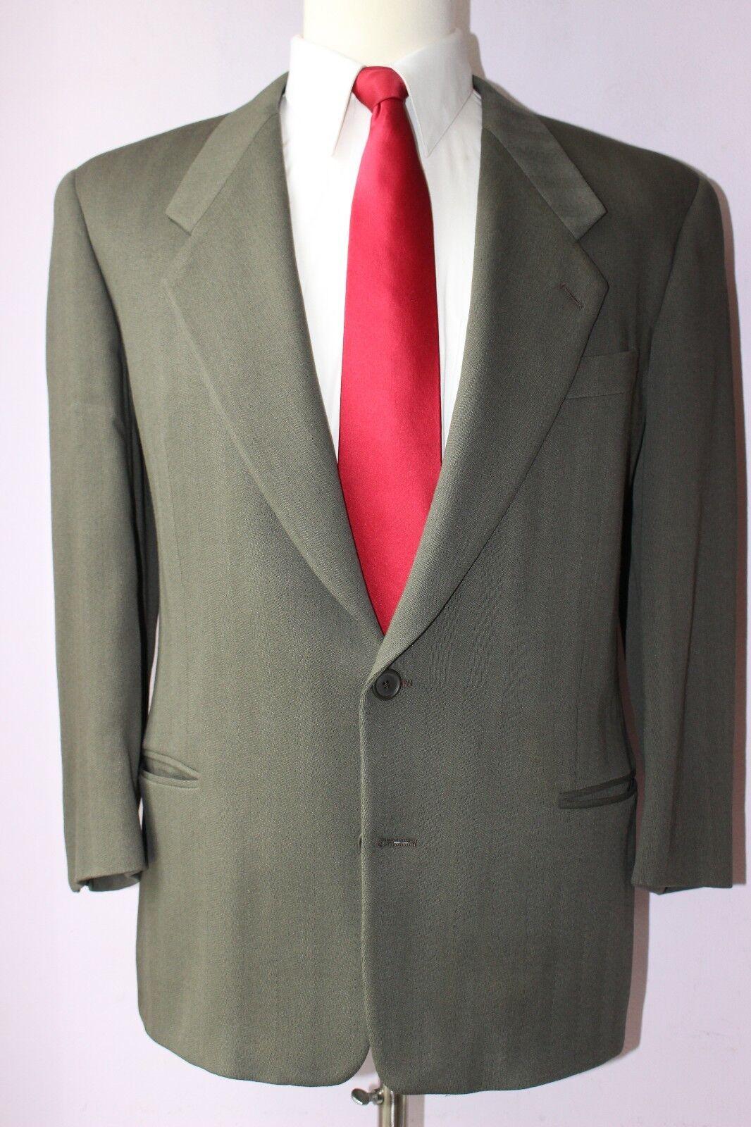 Giorgio Armani Collezioni Taupe Herringbone Two Button Wool Suit 42 S 32 26 Pant