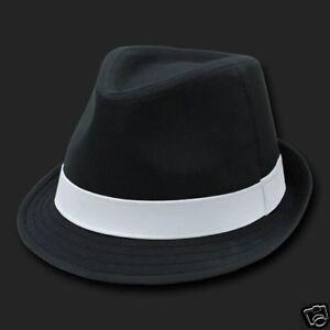 Black-amp-White-Basic-Woven-Fashion-Fedora-Hat-Hats-Fedoras-Size-Small-Medium