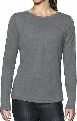 Angemessen Under Armour Threadborne Train Twist Womens Long Sleeve Running Top - Grey SchöN In Farbe