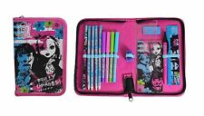 NEW Anker Monster High 15 Piece Filled Pencil Case Zipped School Ghoul Spooky