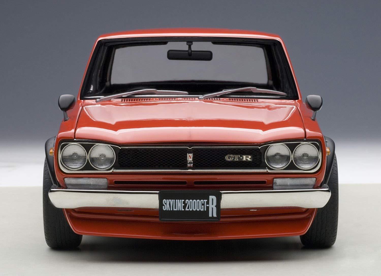 AUTOart 1/18 Nissan Skyline GT-R KPGC10 Tuned version Red model car from JPN
