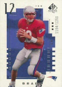 2000 SP Authentic Tom Brady Rookie Card Fridge Magnet New England Patriots