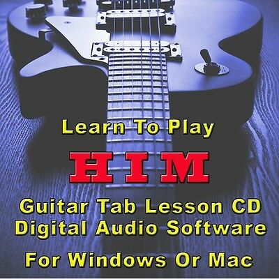H.I.M. Guitar Tab Lesson CD Software - 97 Songs