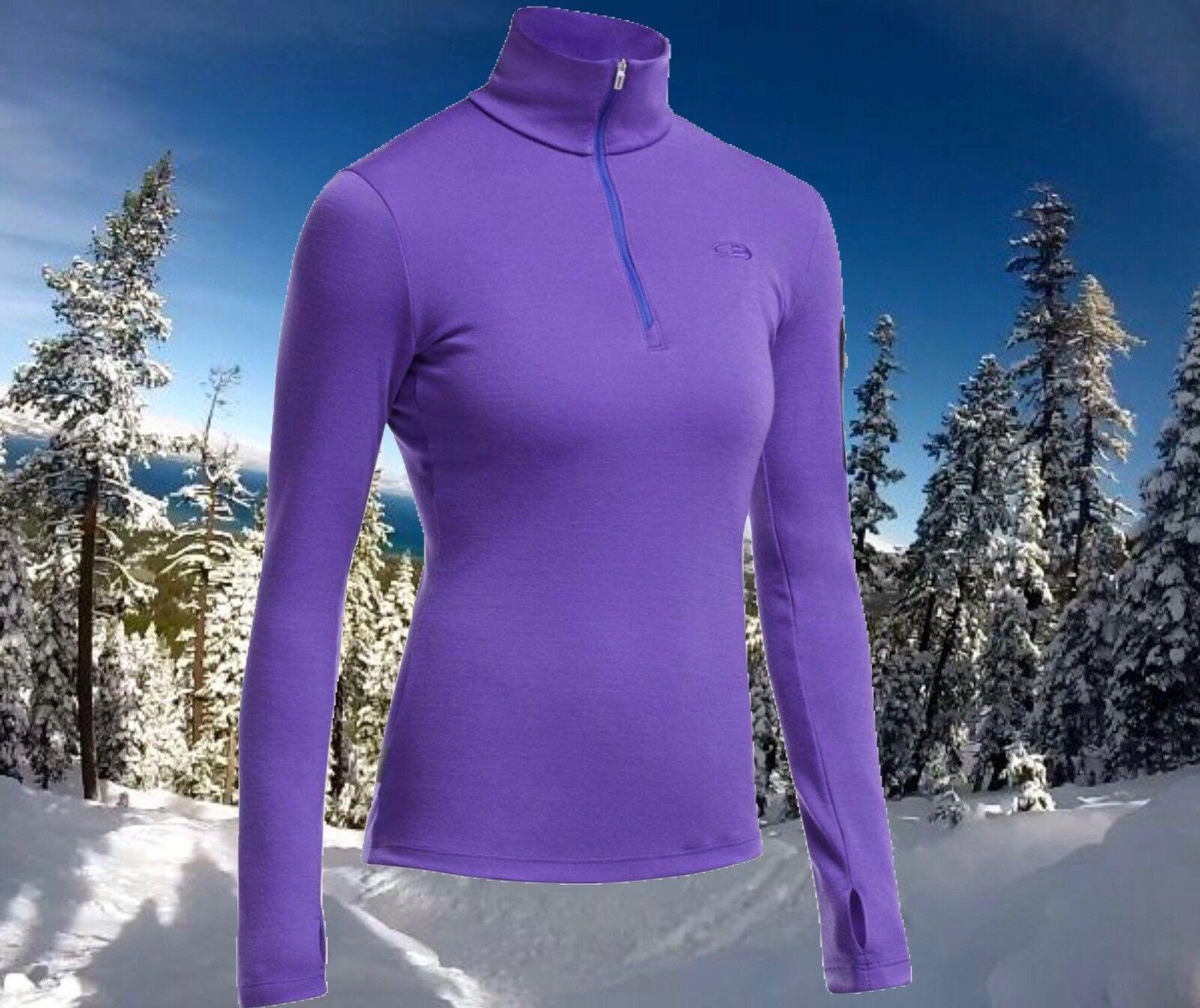 Icebreaker para mujer grande verdeEX 1 2 Cremallera 260g la  lana Merino Sports Ski súperIOR nuevo con etiquetas  160  aquí tiene la última