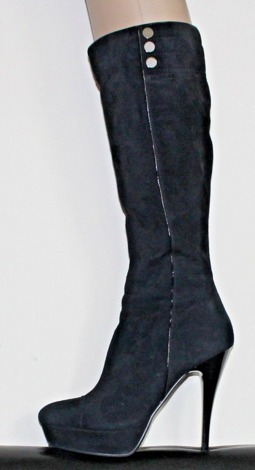 LADIES WOMEN SUEDE PLATFORM STILETTO HEEL BOOTS SIZE 38