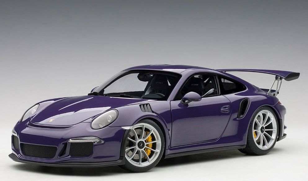 7869 bilkonst 1 18 Porsche 911 (991) GT3 RS lilata modelllllerlbilar