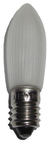 7er LED E10 Topkerzen Spitzkerzen Riffelkerzen Windstoß Tropfen  0,2W 10-55V