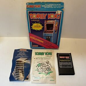 Intellivision Video Game Coleco Donkey Kong with Box and Manual Vintage