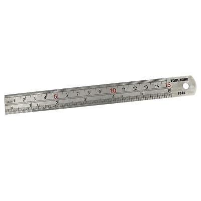 150mm Metal Ruler Steel Stainles Rule inch//mm Metric Depth Gauge Measuring Tool