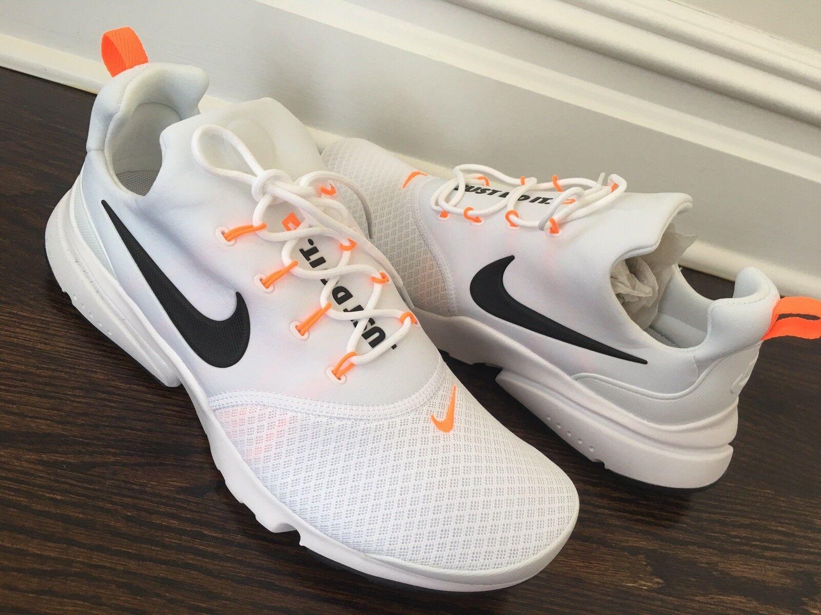 Nuevo Para hombres NIKE AQ9688 PRESTO FLY blancoo Encaje Running Zapatos EE. UU. 9.5 Auténtico