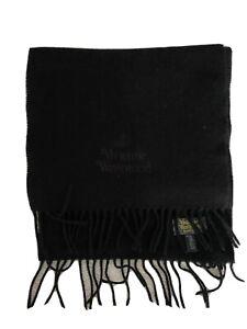 Vivienne-Westwood-Black-Wool-Scarf-Black