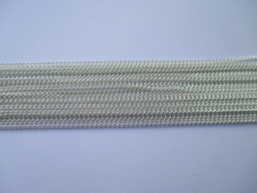 UK 10 Meters Silver Jewellery Closed Link Curb Necklace Pendant Chain 2 X 1.5mm