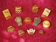 Rare lot of 12 coca cola / olympic pins/tacks coke special olympics some vintage