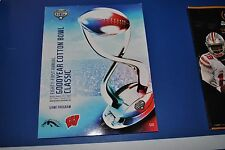 2017 Cotton Bowl Wisconsin Badgers Western Michigan Game Official Program