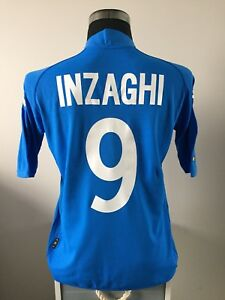 INZAGHI #9 Italy Home Football Shirt Jersey 2002 (XL)