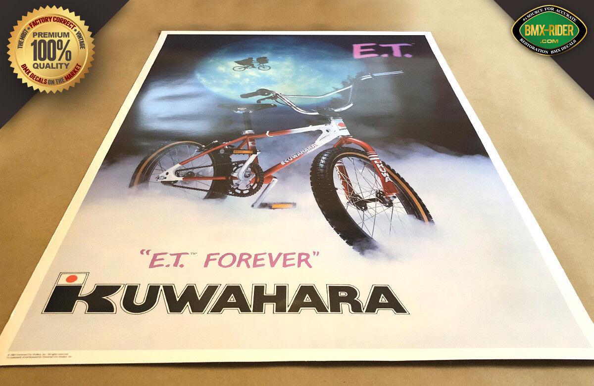 ET - Kuwahara E.T. BMX Poster 18x24 - The Extra Terrestrial 1982