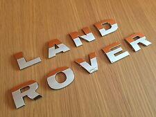 CHROME LETTERING LAND ROVER FREELANDER DEFENDER DISCOVERY BOOT BONNET TEMPLATE