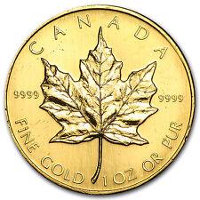 1986 Canada 1 oz Gold Maple Leaf BU - SKU #74656