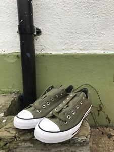 Mens-Converse-All-Star-Khaki-Green-Sneakers-Trainers-Size-8-Skater-Streetwear