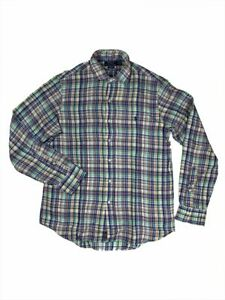 Ralph-Lauren-Polo-Mens-Pony-Logo-Plaid-Shirt-Colorful-Linen-New