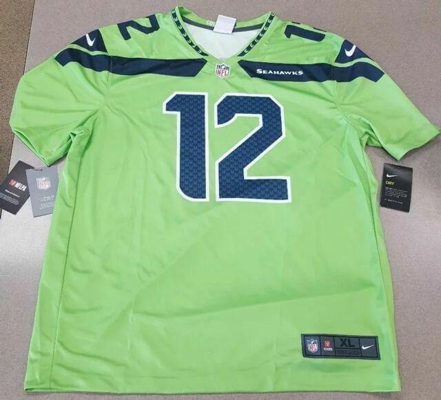 Nike Seattle Seahawks 12th Man Fan Jersey Color Rush Size Mens Small