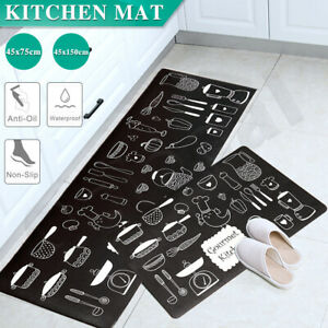 Kitchen-Non-Slip-Mat-Home-Floor-Carpet-Rug-Waterproof-Anti-Oil-PVC-Door-Mats-AU