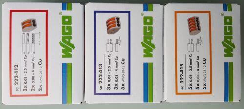 Wago Klemmen Set 2-3-5 pol 222(412 413 415) Verbindungsklemme Hebel-Klemme     x