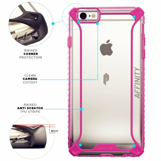 newest 32c25 081ae Poetic【affinity】premium Thin TPU Case for Apple iPhone 6s Plus / 6 Pink