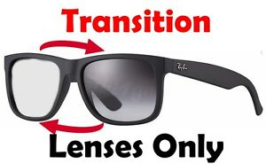 000a603541 Image is loading TRANSITIONS-GREY-RB4165-Justin-Anti-Glare-Replacement- Lenses-