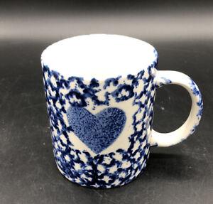 Blue Sponge with Blue Heart Coffee Cup Mug - Gibson Housewares