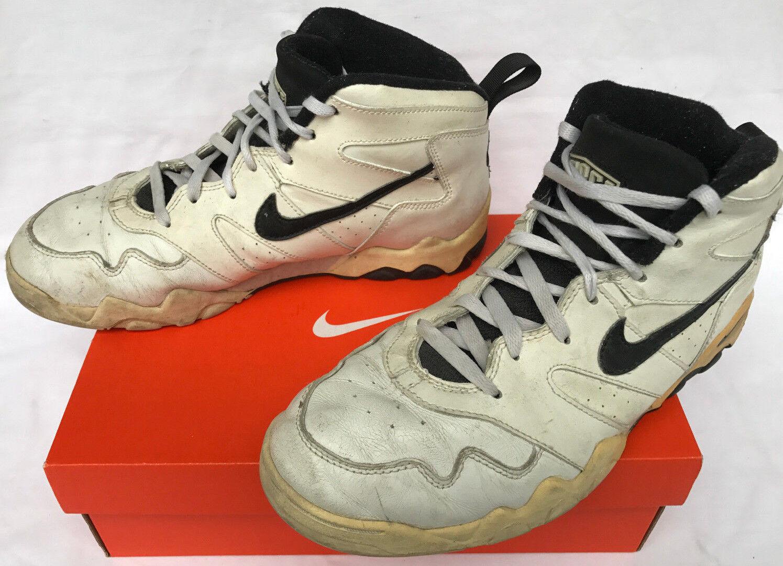 Vintage Nike Air Authority 130193-101 Wht Barkley 1994 Basketball shoes Men's 11